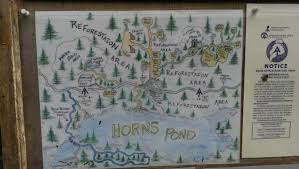 Tos Map Horns Pond Lean Tos Nothing Ventured