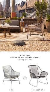 Threshold Wicker Patio Furniture - west elm huron large lounge chair copycatchic