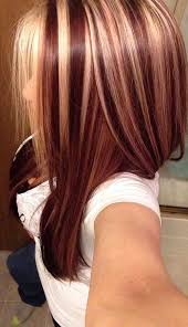blonde hair with chunky highlights red and blonde foils hairstyles hair