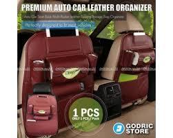 Jual Leather jual leather premium auto car organizer tas jok rak kulit