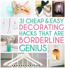 Cheap Diy Home Decor Projects 31 Borderline Genius Decorating Hacks Diy Cozy Home