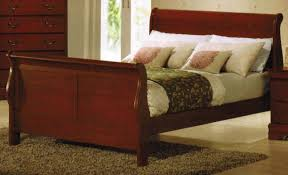 Louis Philippe Sleigh Bed Bedroom Create Ambiance With A Perfect Balance Of Warmth And