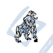 tribal gorilla design by sigh on deviantart