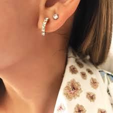 tiny hoop earrings eliza tiny hoop earrings femme