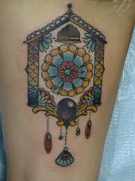 coo coo clock tattoo pin cuckoo clock bird stuck ss pt1917813 on