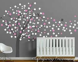 Cherry Blossom Tree Wall Decal For Nursery Assorted Cherry Blossom Tree Blowing Then Wind Wall Decal Sticker
