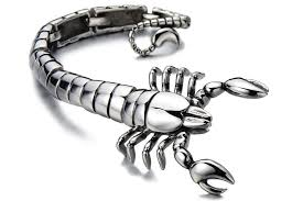 bracelet man images 2018 cool mens bracelet large scorpion bracelet man biker jewelry jpg