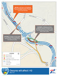 Interstate 10 Map Westside Drivers Ask For Relief Of Major Roadwork On I 10 Kfox