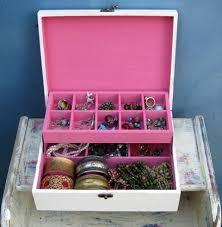 shabby chic wooden jewelry box cream u0026 pink tammnoony on artfire