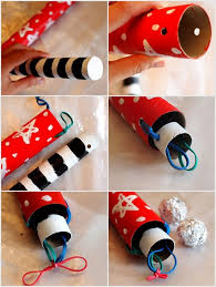 diy cardboard rocket launcher toy pink stripey socks