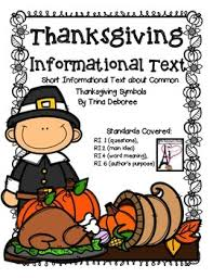 thanksgiving symbols reading comprehension passages paragraph