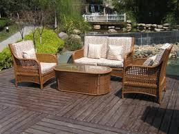 4 Piece Wicker Patio Furniture - outdoor u0026 garden wicker patio furniture for the touch of nature
