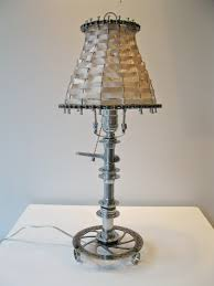 the art of up cycling lamps made from bicycle parts really cool