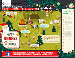 Christmas Map A List The Best Christmas Lights In St George 2015 U2013 St George News