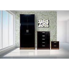 Black High Gloss Bedroom Furniture by P Jpg