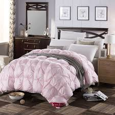 light pink down comforter 3d design white pink color natural 90 duck down comforter 500fp