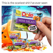 Halloween Candy Meme - dole mini salad halloween candy halloween know your meme