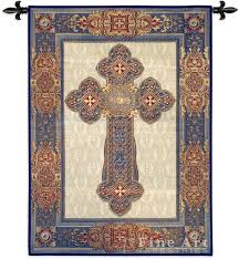 celtic cross wall hanging cross tapestry wall hanging religious picture h53 x w38