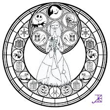 stained glass christmas coloring page free download