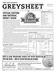 cdn greysheet coin dealer newsletter sample issue march 4 2016 by