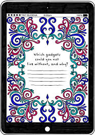 technology coloring page from tiny buddha u0027s gratitude journal