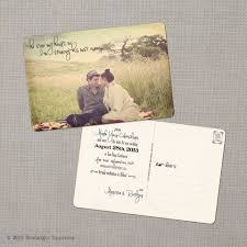 print fashioned postcards with a photo of you and your fiancé