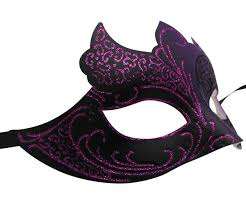 purple masquerade mask purple and black masquerade mask with glitter