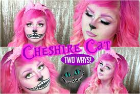 cheshire cat halloween makeup tutorial girly or creepy youtube