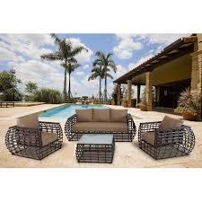 Patio Furniture Sets Walmart - sofa for hanover outdoor furniture soho 4 piece modern lounge set