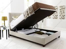 King Size Bed Frame Storage Padded King Size Bed With Lift Top Storage And Headboard Feat