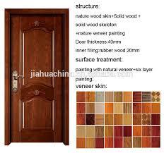 Wooden Door Design Modern Simple Wood Door Design With Wood Veneer Skin And Picture