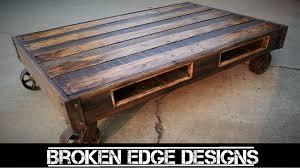 pallet wood coffee table youtube