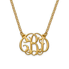 gold plated monogram necklace small monogram necklace with gold plating mynamenecklace