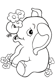 baby elephant coloring pages to download and print for free cute