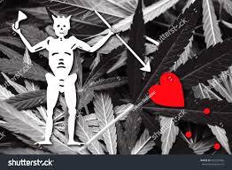 Black Beard Flag Blackbeard Pirate Flag On Cannabis Background Stock Illustration