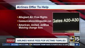 Flight Change Fee United by Officials Set Up Gofundme For Las Vegas Victims Abc15 Arizona