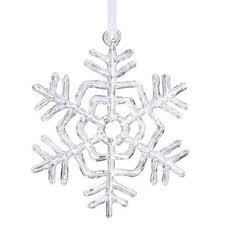 glass snowflake ornaments wayfair