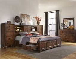 King Bedroom Set With Storage Headboard Intercon Furniture Wolf Creek 5 Piece Bookcase Bedroom Set With