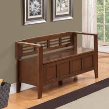 home decor entryway bench with storage mid century modern