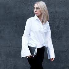 white bell sleeve blouse leonie noanoir com ace tate minimal silver glasses h m