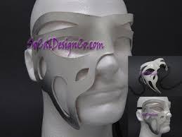 leather masquerade masks phantom ii white silver leather unisex masquerade mask leather