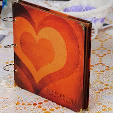 Photo Albums For Wedding Pictures Aliexpress Com Buy Love Heart Diy Photo Album Wedding Photos