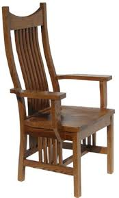 mixed wood western dining room chair with arms