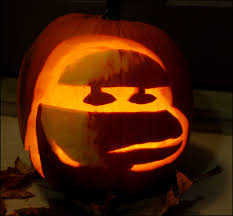 oogie boogie pumpkin carving ideas smiling face with heart shaped eyes smiling faces pumpkin 1000