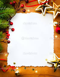 home design design christmas greeting card with white paper on