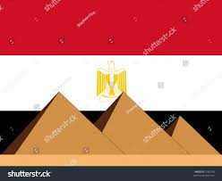 Egypts Flag Pyramids Egypt Egyptian Flag Illustration Stock Vector 2782758