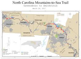 North Carolina State Parks Map by Future Plans Mountains To Sea Trail