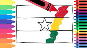 Flags Of The World Colouring How To Draw Ghana Flag Drawing The Flag Of Ghana Coloring