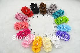 satin ribbon flowers trail order satin ribbon flower hairband multilayers diy flower