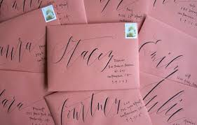 Wedding Envelopes Hand Lettered Wedding Invitations Inspiration Mywedding